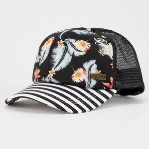 NWT Roxy Water Come Down Trucker Hat
